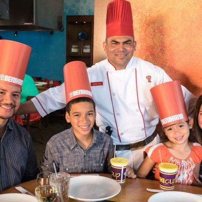 Benihana Chef with Family
