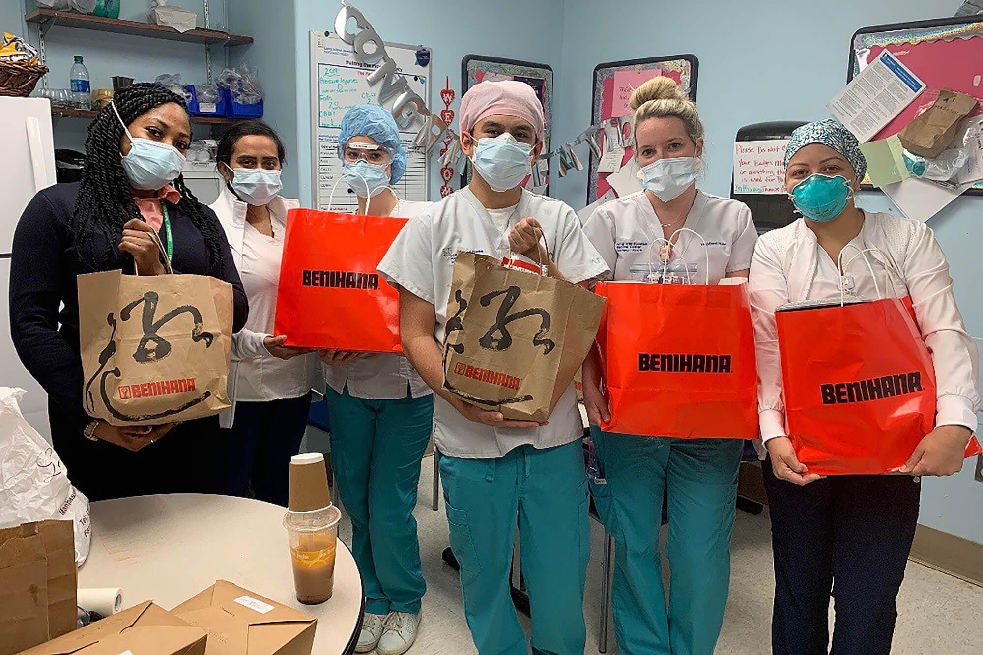 Benihana Manhasset donated meals to Long Island Jewish Medical Center