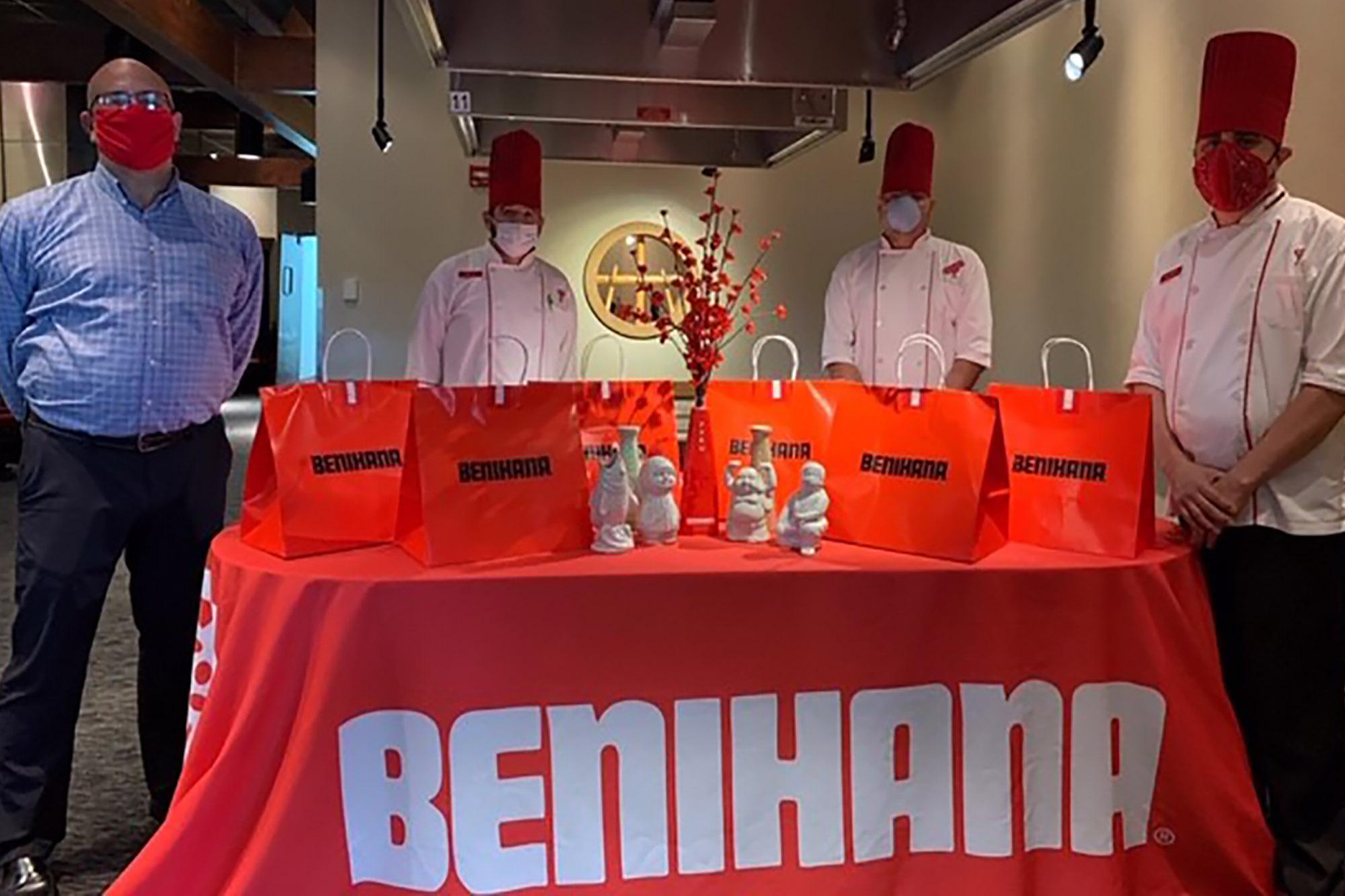 Benihana Cupertino donated 255 lunches