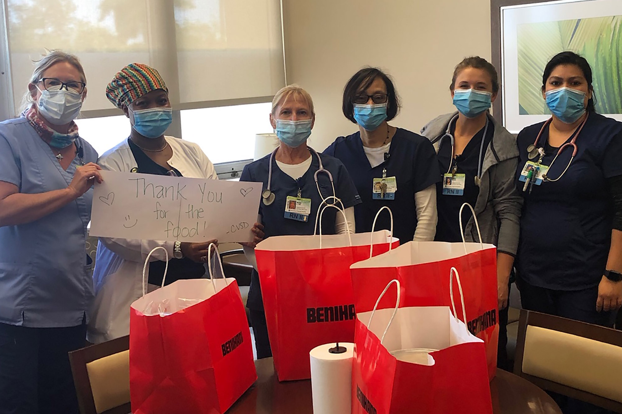 Benihana Boca Raton donated lunch to the nursing staff