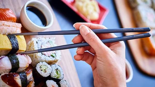 Bacchette Per Sushi In Titanio