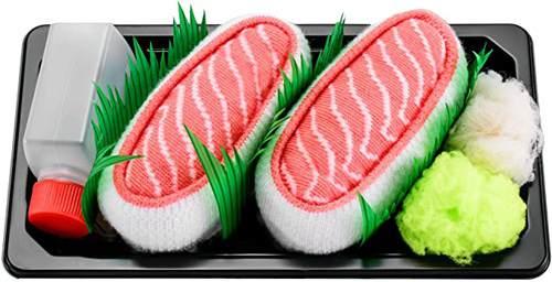 1 Paio di Calze Sushi al Salmone