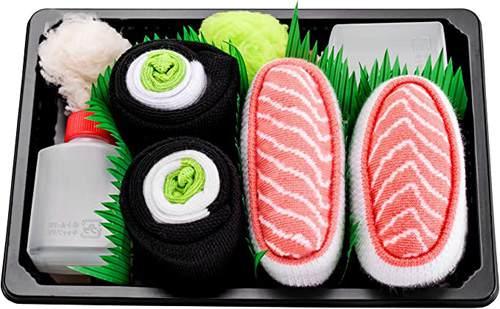 Rainbow Socks - 2 Paia di Calzini Sushi Maki salmone e cetriolo