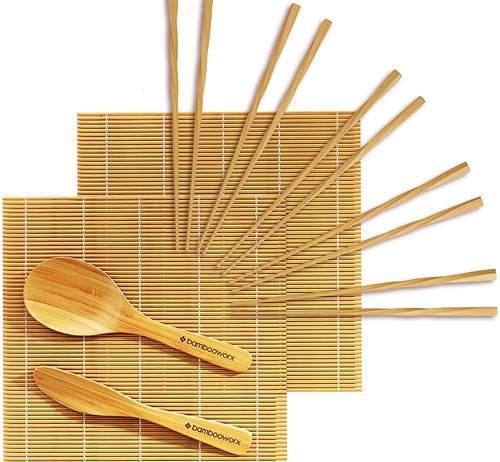 Kit Tradizionale Per Preparare Sushi Bambooworx In Legno Di Bambù