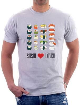 Maglia Sushi Lover Grigia By T-Shirteria