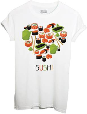 T-Shirt Sushi Love Cuore iMage