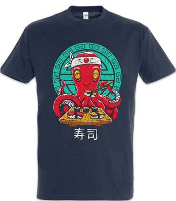 T-Shirt Maglietta Urban Backwoods Octopus Sushi