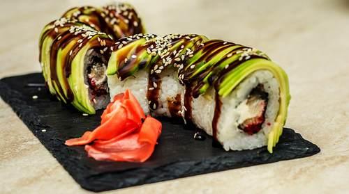 Piattino in Ardesia per Sushi