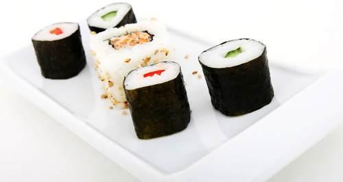 Piatto rettangolare in Ceramica per Sushi