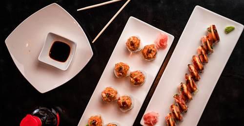 Set di Piatti Piattini e Ciotole per Sushi e Sashimi