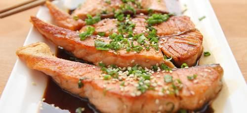 Salsa Teriyaki Con Salmone