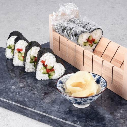 Kit Completo Di Stampi Per Sushi In Legno