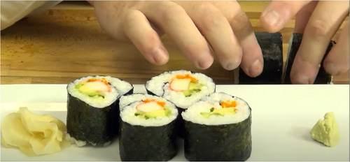 Impiattare il sushi