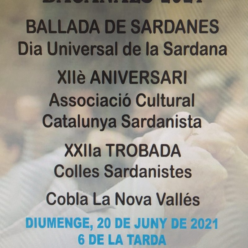 Photo: XIIè Ballada de sardanes i trobada de colles sardanistes a càrrec de l'Associació Cultural Catalunya Sardanista
