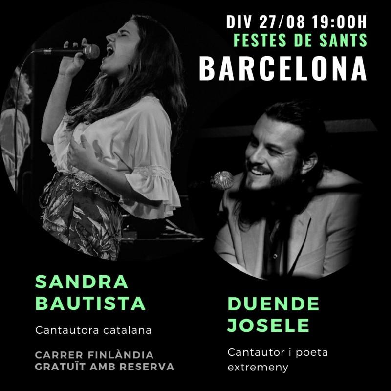 image: CANTAUTORA SANDRA BAUTISTA DIVENDRES 27 D'AGOST (19:30H - 21H)