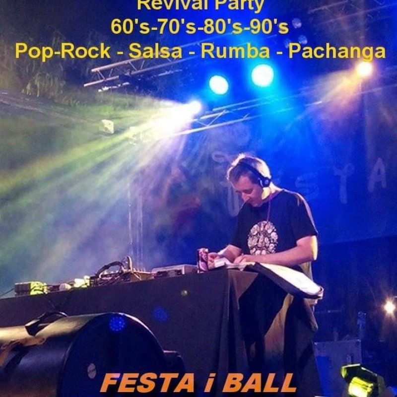 image: DJ TXANGA DISSABTE 28 D'AGOST (21H - 00:30H)