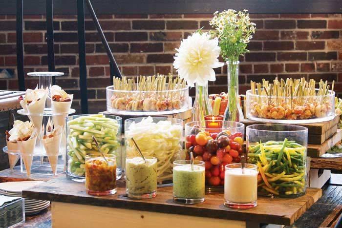Vegetable Buffet Set Up
