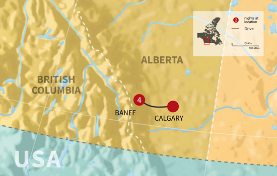 Banff Winter Family Fun - Map
