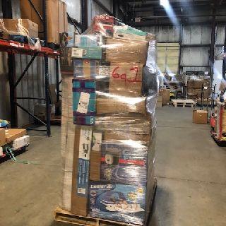 6 General Pallets from Aqua, Clam, Husqvarna, Kahuna, Razor, 178 Units, Customer Returns, Est. Original Retail $21,246, Lincoln, NE