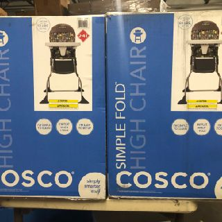 Cosco Simple Fold High Chairs, Strollers, Booster Seats, Disney Headphones & More, 396 Units, New Condition, Est. Original Retail $10,692, Tampa, FL