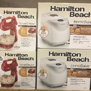 Hamilton Beach Breadmakers & Hand Mixers, Copper Infused Grills & More, 396 Units, New Condition, Est. Original Retail $10,296, Tampa, FL