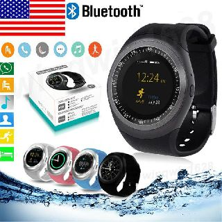 Y1 Waterproof Bluetooth Smartwatch Phone Mate for Android/iOS, 4 Colors, Generic, 55 Units, New Condition, Est. Original Retail $3,300, Woodside, NY