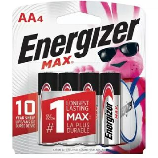 Energizer Max AA Batteries, 4-Packs, 24 Packs Per Case, 18 Cases, New Condition, Est. Original Retail $2,588, Hickory, NC
