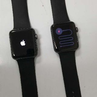 Apple Watch, Series 3, 42mm, GPS, Cellular, Space Gray, Aluminum Case, Black Band, 2 Units, Customer Returns, Est. Original Retail $660, Oakland, NJ