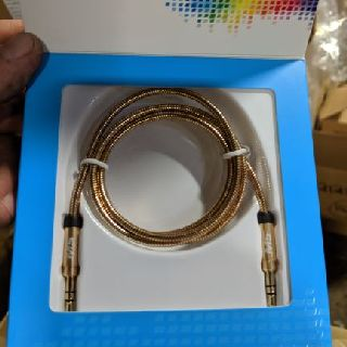 Mobilespec MBS12176 Auxiliary Cables, 3 ft. 3.5 mm. to 3.5 mm, Gold, 300 Units, New Condition, Est. Original Retail $3,000, Lancaster, PA