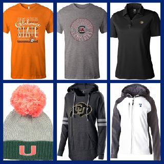 NCAA Apparel for Men, Women & Children, 276 Units, Shelf Pulls, Est. Original Retail $7,177, Schaefferstown, PA