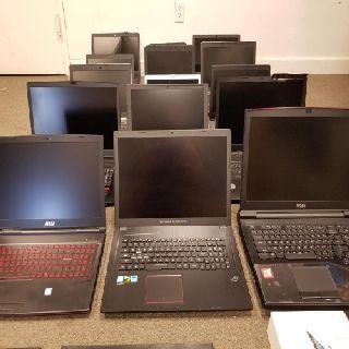 Laptops & Gaming Computers, MSI, Asus, Acer, Dell, HP & More, 25 Units, Used Condition, Est. Original Retail $16,315, Tamarac, FL