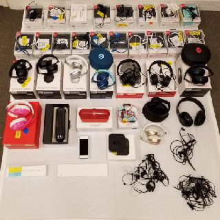 Assorted Apple Products & Beats Headphones, BeatsX, PowerBeats3, Beats EP, Est. 51 Units, Salvage Condition, Est. Original Retail $4,980, Tamarac, FL