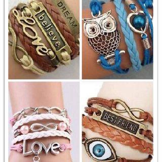 Leather Fashion Bracelets, Love, Best Friend & More, 240 Units, New Condition, Est. Original Retail $6,000, Blaine, WA