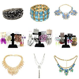 Wholesale Mixed Necklaces, Earrings & Bracelets, Women's Fashion Jewelry, 1,643 Units, New Condition, Est. Original Retail $16,384, Walnut, CA