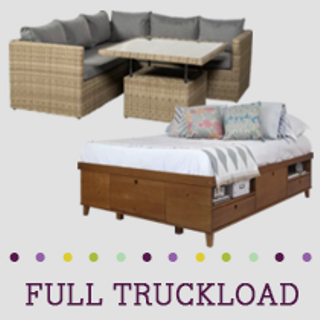 Truckload of Adult/Youth Bedroom, Kitchen, Dining & Outdoor Furniture & More, 93 Pieces, Customer Returns, Ext. Sale Price €25,702, Kassel, DE