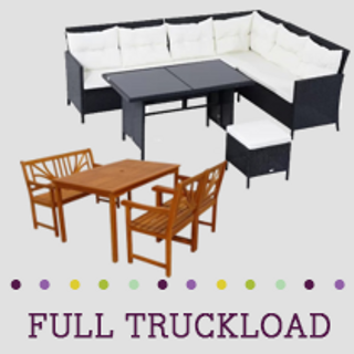 Truckload of Kitchen, Dining, Outdoor & Entertainment Furniture & More, 219 Pieces, Customer Returns, Ext. Sale Price €33,209, Kassel, DE