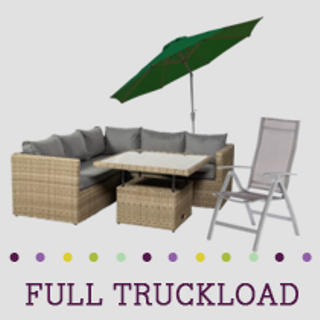 Truckload of Outdoor, Kitchen, Dining, Entertainment & Accent Furniture & More, 157 Pieces, Customer Returns, Ext. Sale Price €29,981, Kassel, DE