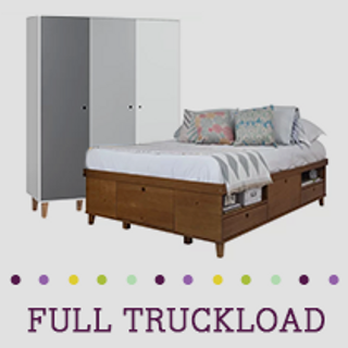 Truckload of Bedroom, Entertainment & Outdoor Furniture & More, 103 Pieces, Customer Returns, Ext. Sale Price €23,726, Kassel, DE