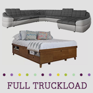 Truckload of Upholstery & Bedroom Furniture, 27 Pieces, Customer Returns, Ext. Sale Price €18,670, Kassel, DE