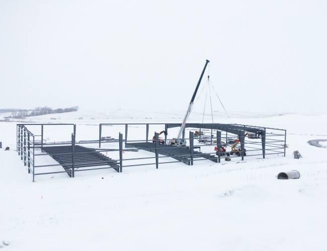 Co-Line's newest facility taking shape