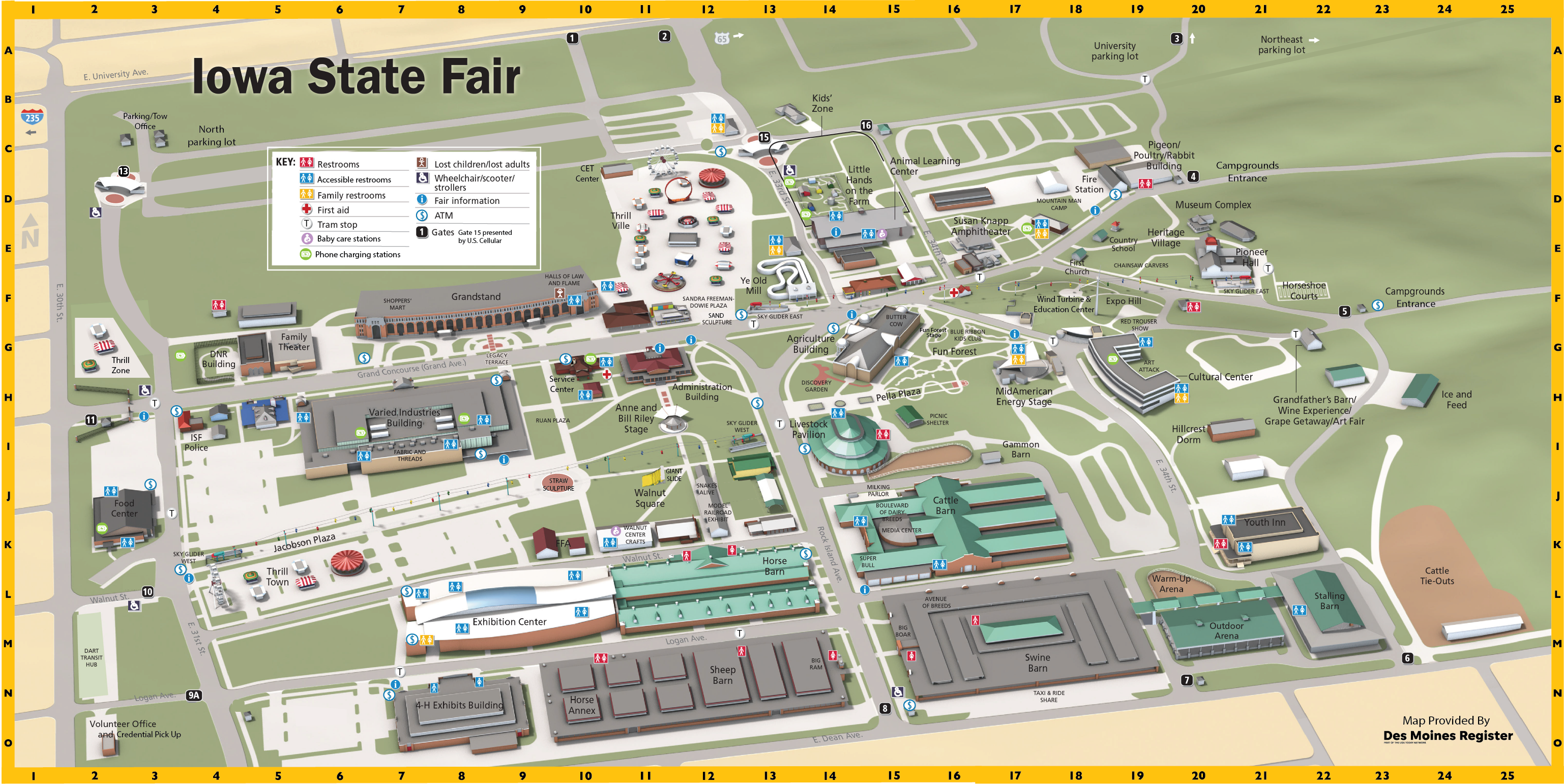 Iowa State Fairgrounds Map