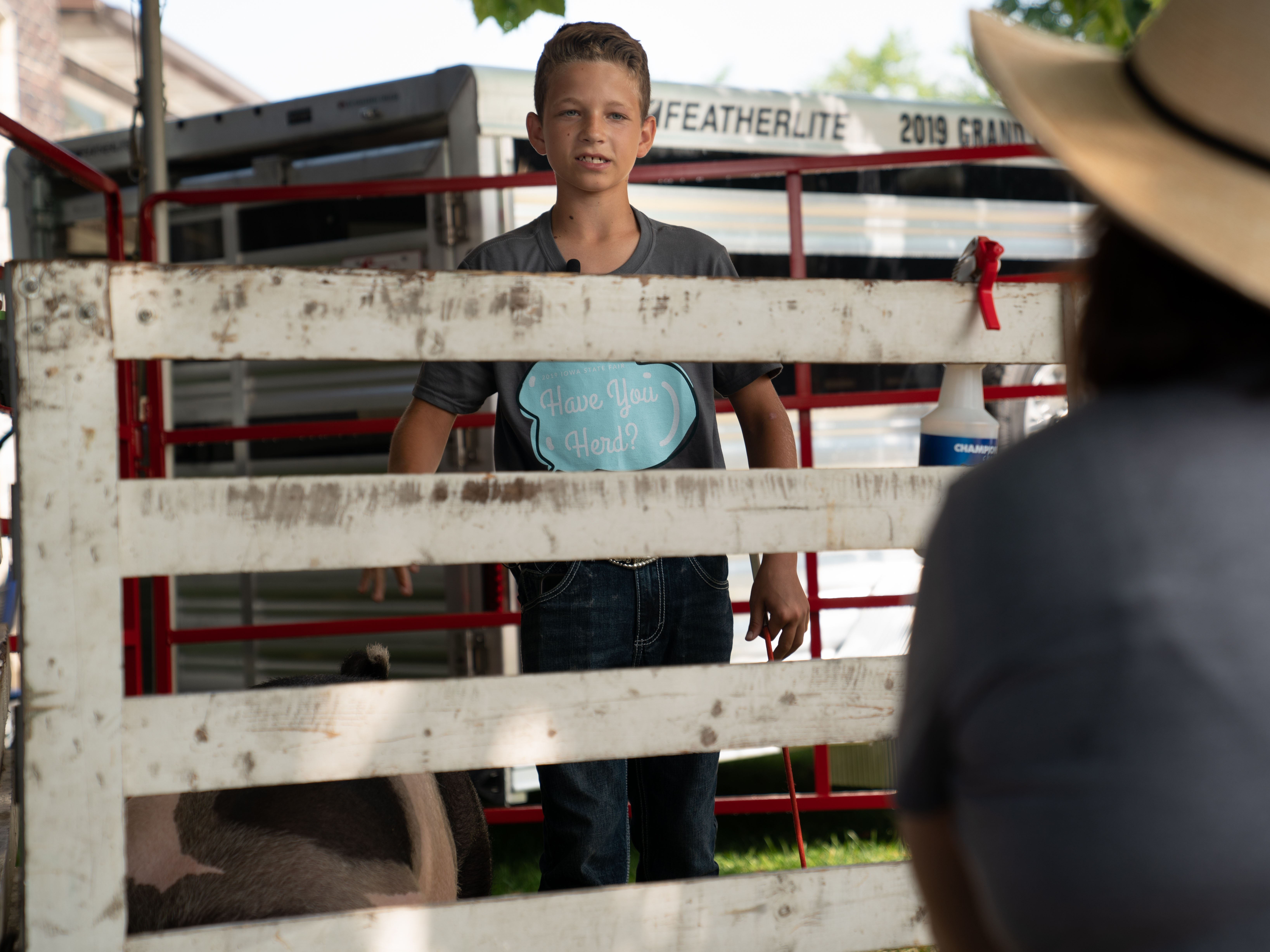 Youth can teach Fairgoers about their livestock projects at the Fair
