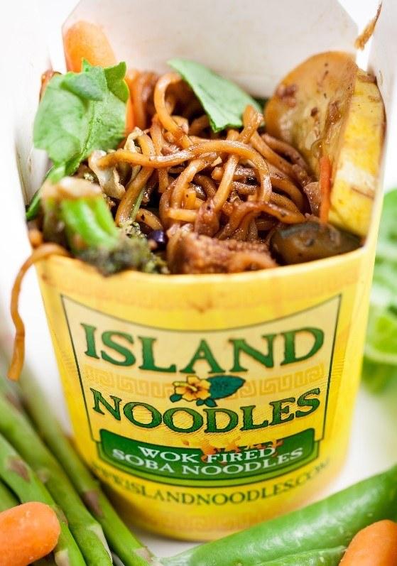 Island Noodles with Teriyaki Chicken