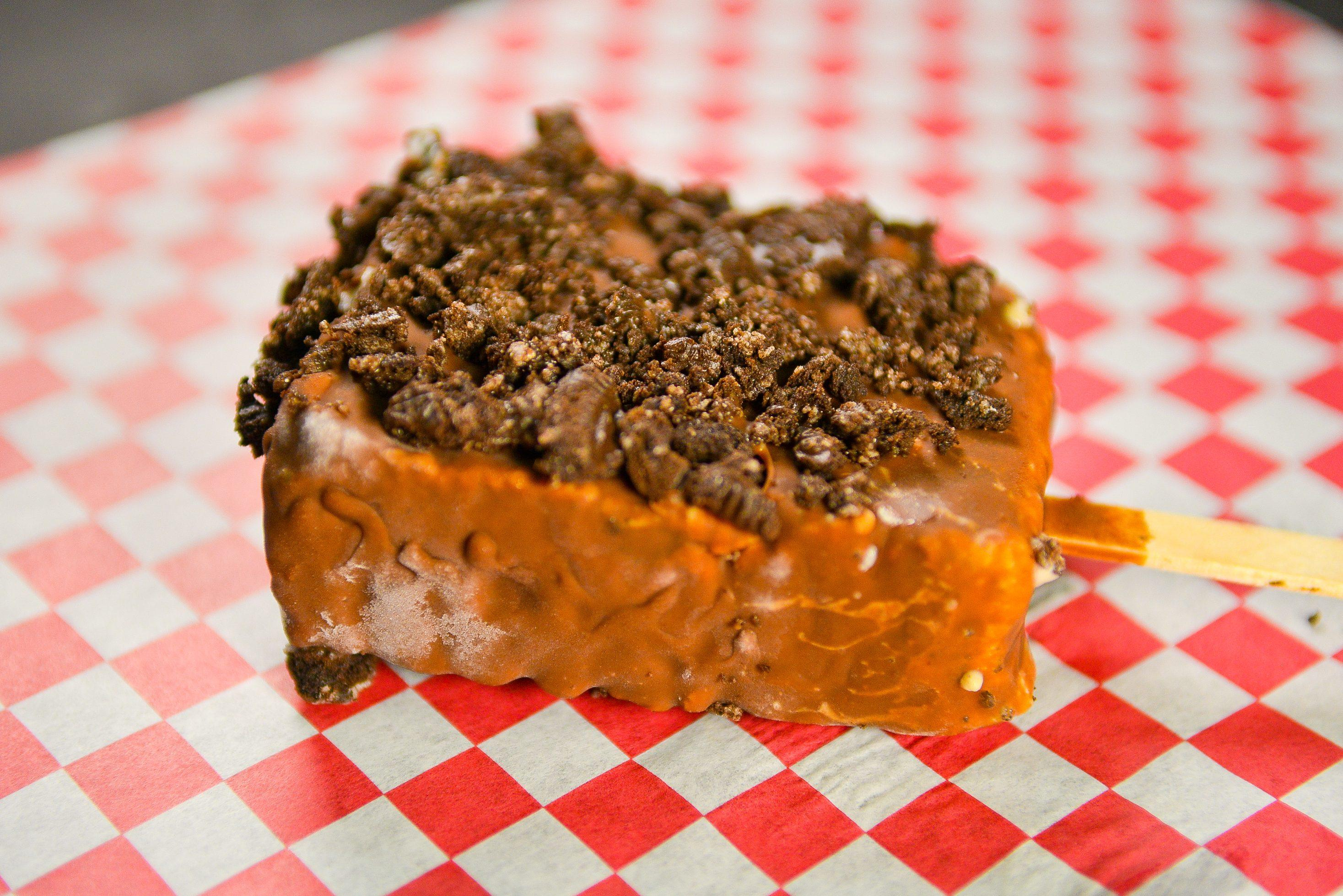 Check out the value priced foods at the Fair, like the Cookies and Cream Wonder Bar!