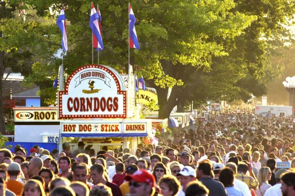 The Grand Concourse during the Iowa State Fair.