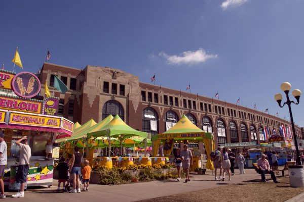 The Grandstand during the Iowa State Fair.
