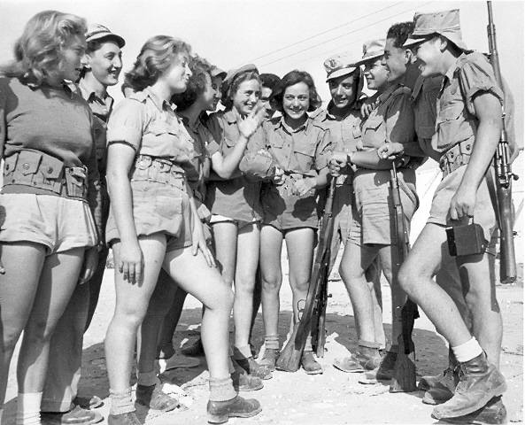 boys and girls during gadna trip israel 1950s bh open databases