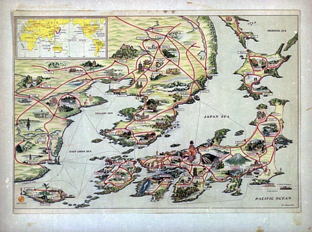 Tourist Map In The Lands That Japan Has Occupied Korea Manchuria - Japan map 1930