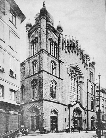the great synagogue on borne street frankfurt am main germany