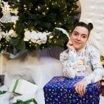 Weihnachten Foto unterm Tannenbaum